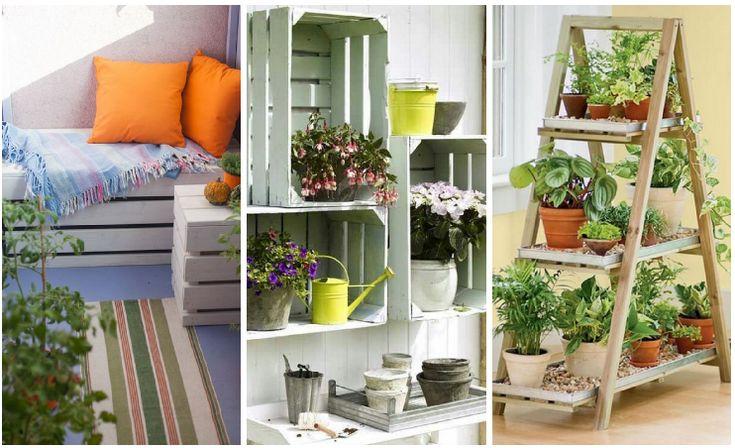 Este año decora y ordena tu terraza gracias al reciclaje