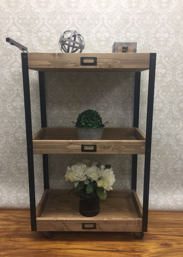 best 25 rustic bar carts ideas on pinterest. Black Bedroom Furniture Sets. Home Design Ideas