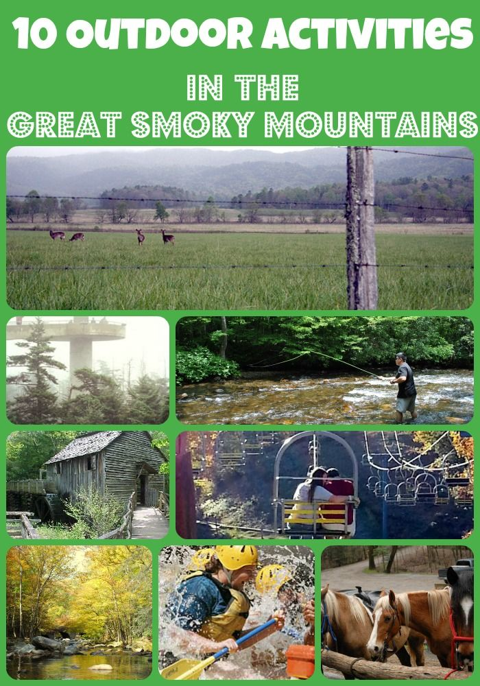 Visiting Gatlinburg or Pigeon Forge? You will want to check out these 10 Outdoor Activities in the Great Smoky Mountains