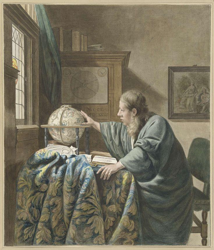 De astronoom, Abraham Delfos, Johannes Vermeer, 1794