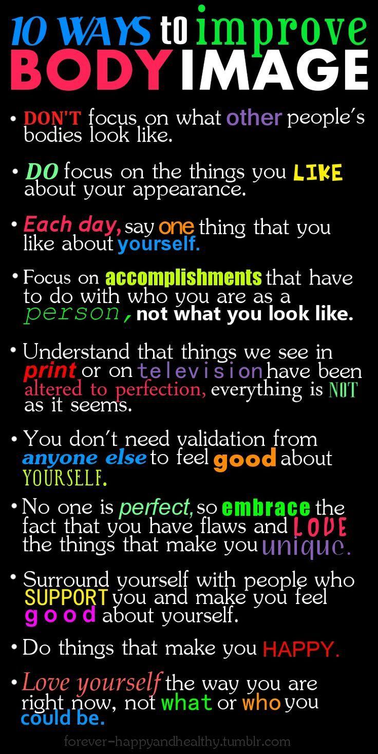 10 ways to improve body image ... #Fitness #Motivation