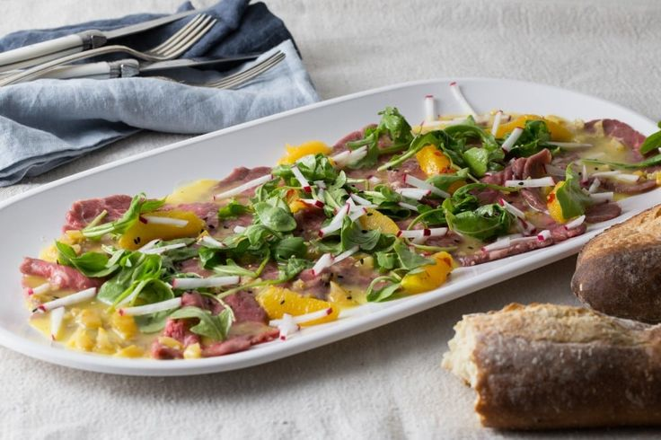 Beef Carpaccio Salad With Citrus-Chile Dressing