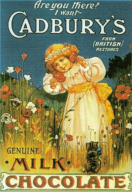 Cadbury's Milk Chocolate vintage advertisement