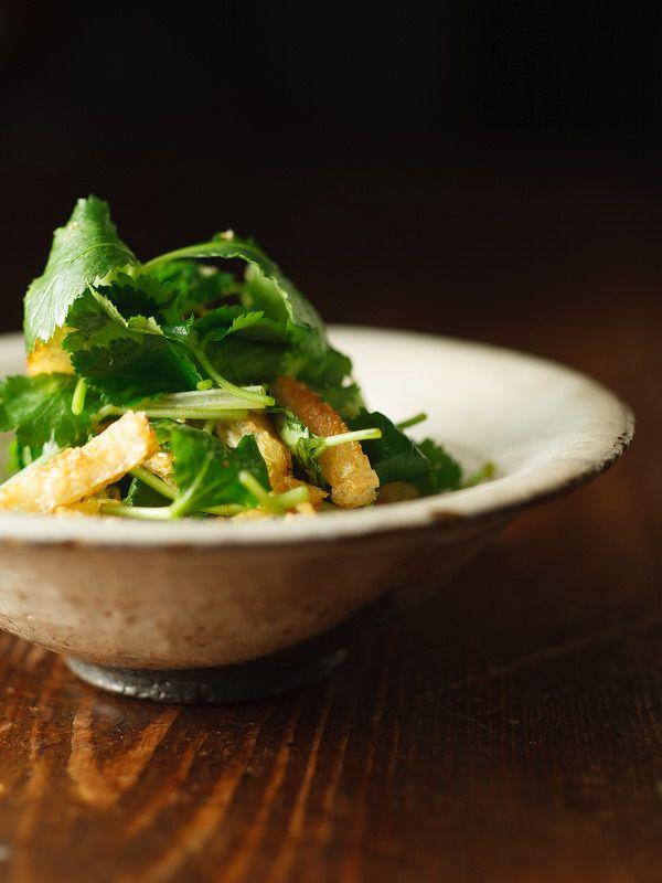 三つ葉と油揚げのサラダ by 福岡拓 | レシピサイト「Nadia | ナディア」プロの料理を無料で検索