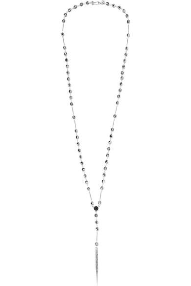 Chan Luu | Silver, agate and Swarovski crystal necklace | NET-A-PORTER.COM