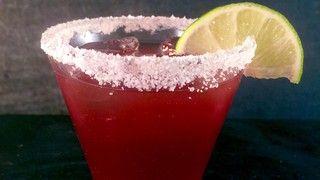 Clinton Kelly's Cherry Margaritas. Silver tequila, orange liqueur, lime, cherry juice. Garnish: lime wedges & Kosher salt. ABC's The Chew