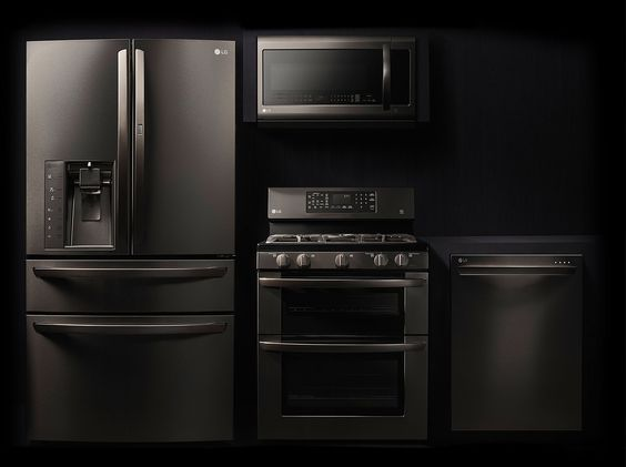 Matte Black Appliances Will Go Nicely With Natural Granite Countertops
