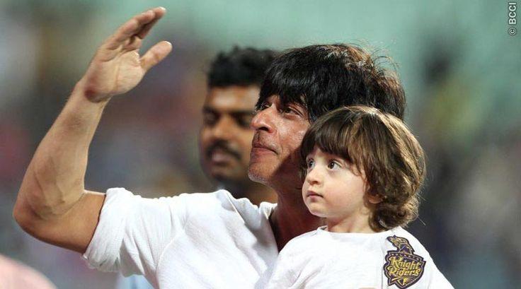 Shah Rukh Khan, AbRam, AbRam Shah Rukh Khan, Shah Rukh Khan Ab Ram, SRK AbRam, AbRam, AbRam IPL, KKR MI, MI KKR, Indian Premier League, IPL 8, IPL 2015, Cricket News, Cricket