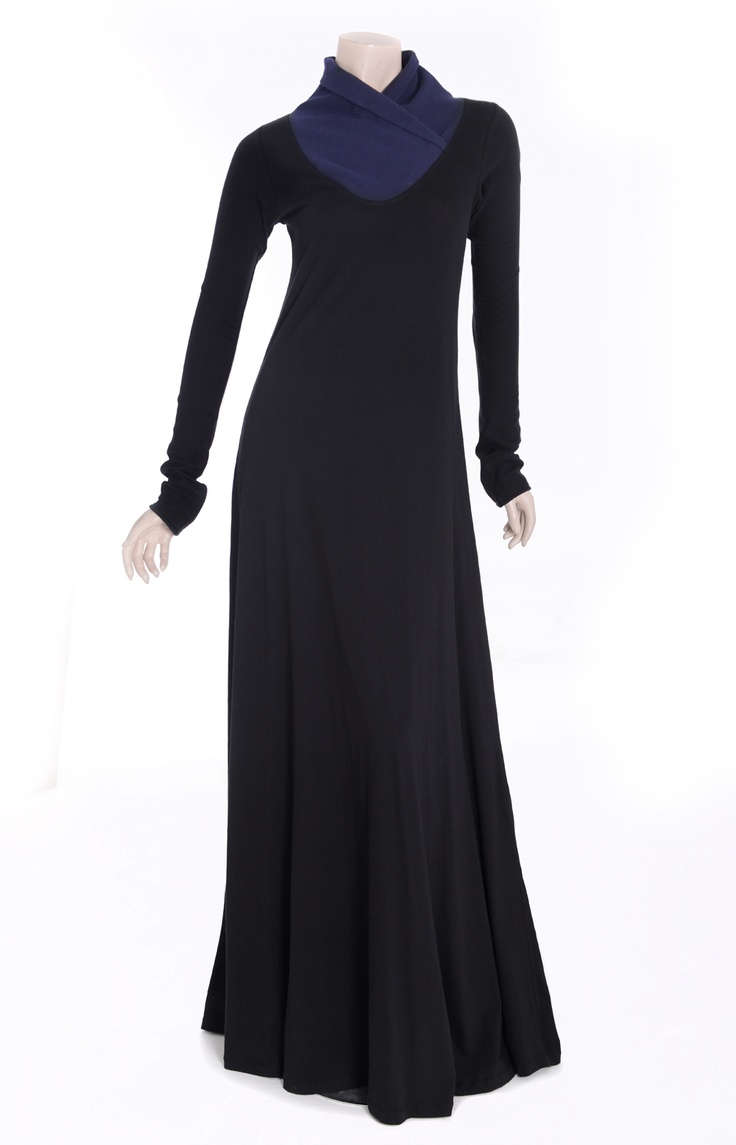 Aab UK Black Navy Abaya : Standard view