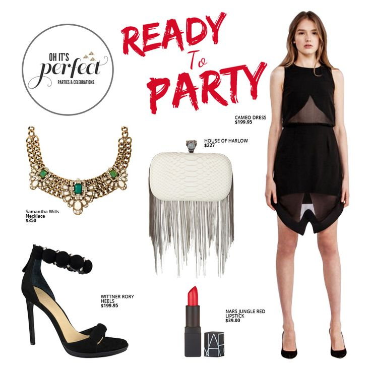 WHAT TO WEAR ON NEW YEAR'S EVE Oh Its Perfect Shop Guide-Fashion #ohitsperfect #oip #samanthawills #cameo #houseofharlow #wittner #nars #lbd
