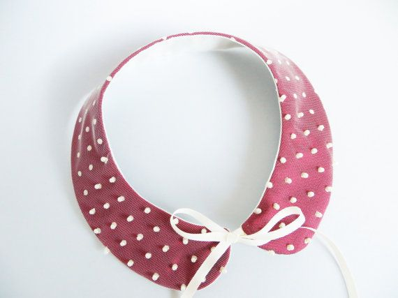 Peter Pan collar necklace detachable collar red by LoveThirties