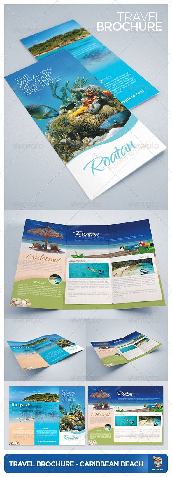 De 20 b sta id erna om travel brochure p pinterest for Travel brochure template