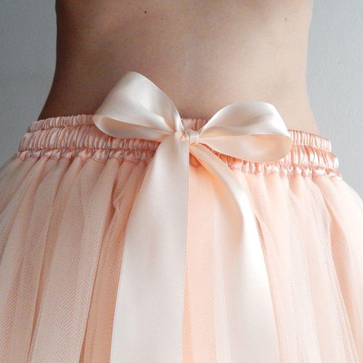 Tylové sukně | dlouhé | Pleťová tylová sukně s lemovanými okraji | Princezna Pampeliška e-shop