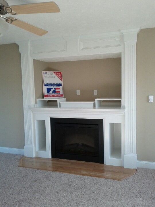 Built In Entertainment Center With The Electric Fireplace