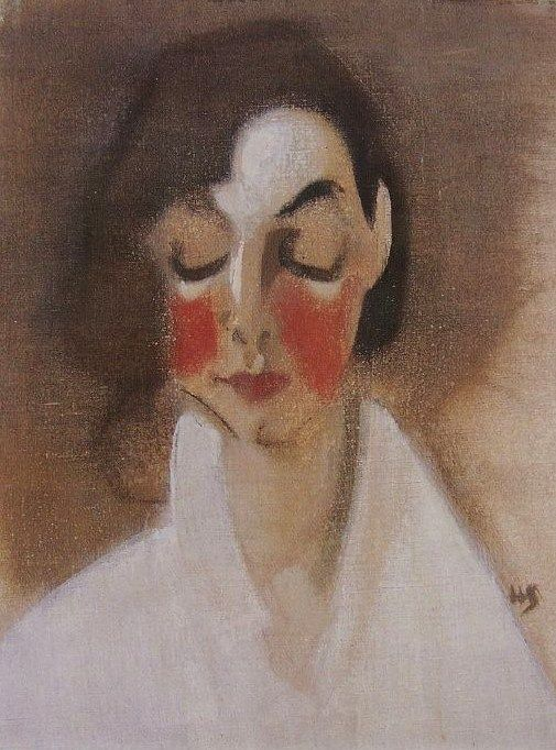 Helene Schjerfbeck (Finish 1862–1946) [Realism, Impressionism, Expressionism, Romanticism] Rosy-Cheeked Girl, 1927.