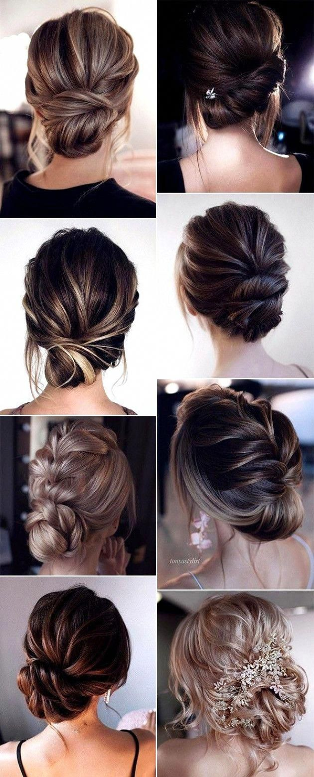 15 Stunning Low Bun Updo Wedding Hairstyles by Tonyastylist - Hair, nails and beauty - #Stunning #beauty #bun #Hair