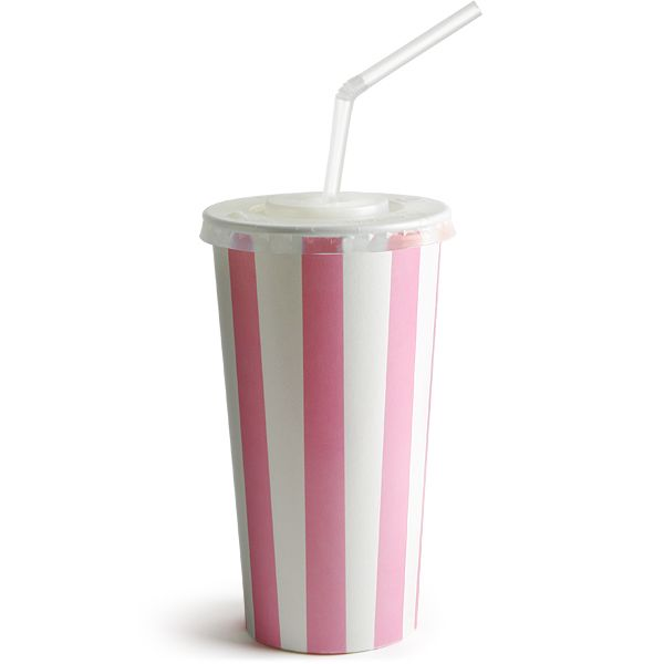 pink striped milkshake cups