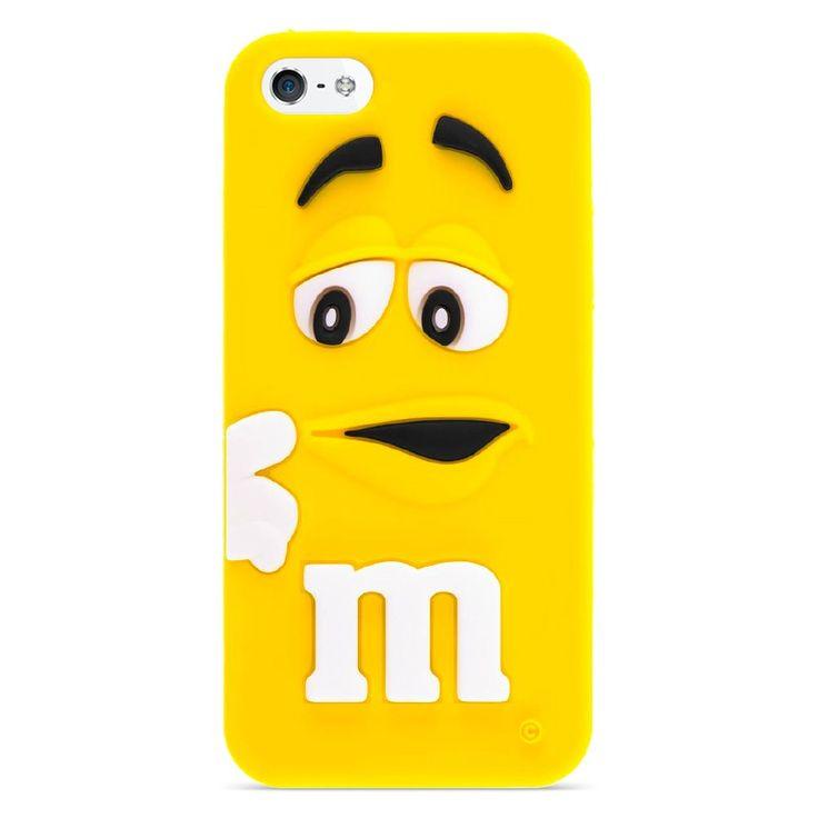 Silikonový kryt M&M pro iPhone 5/5s žlutý #AllCases.cz #kryt #case #sleva #iphone #iphone5 #iphone5s