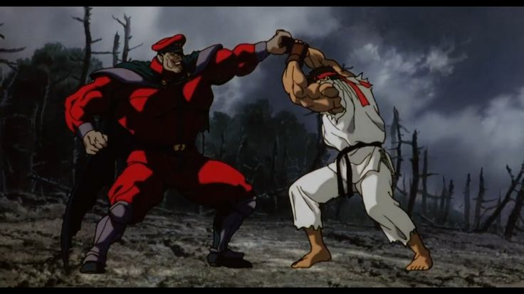 Street Fighter II The Animated Movie M. Bison vs Ryu & Ken Masters final fight HD Wallpaper 2 Vega