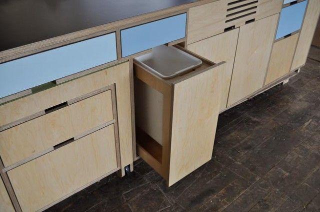 Garbage bin drawer