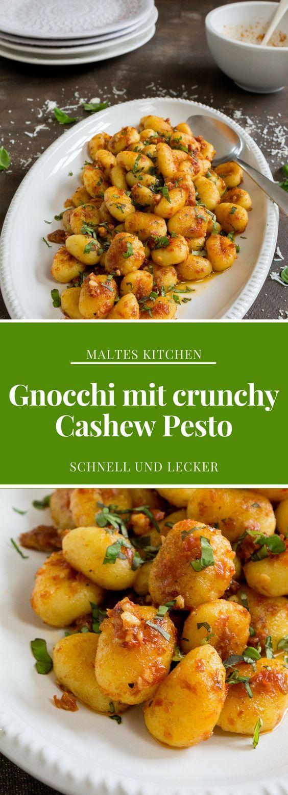 Gnocchi mit crunchy Cashew Pesto | #Rezept von malteskitchen.de