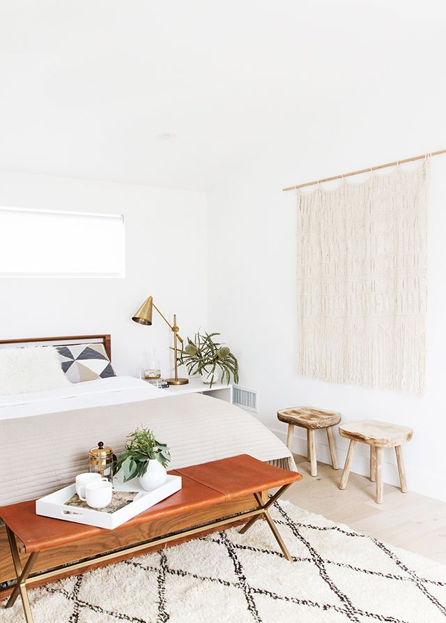 modern organic bedroom makeover