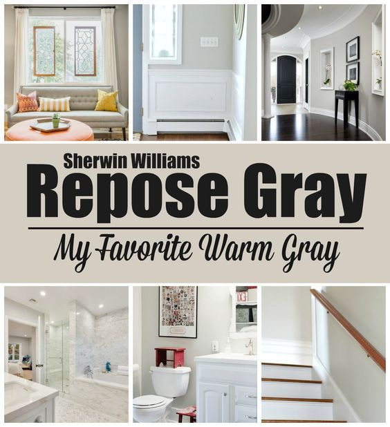 Paint Colors Repose Gray By Sherwin Williams Warm The