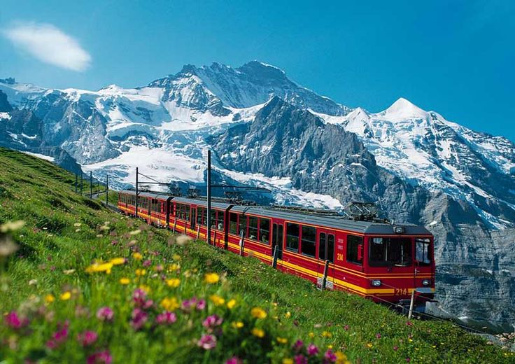 Skiing in Interlaken, Switzerland