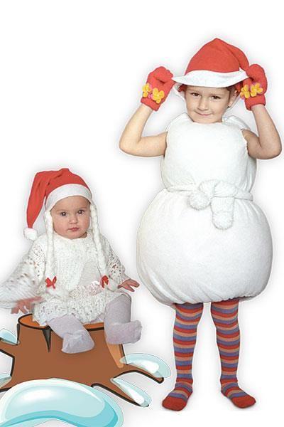 Выкройки костюмов снеговиков