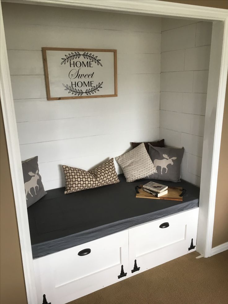 Turned Closet Into Reading Nook House Projects In 2019