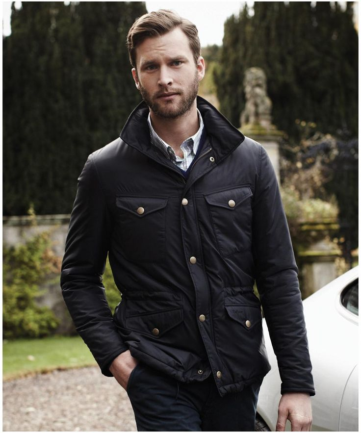 Men Barbour Langley Quilted Jacket Navy Gardens And