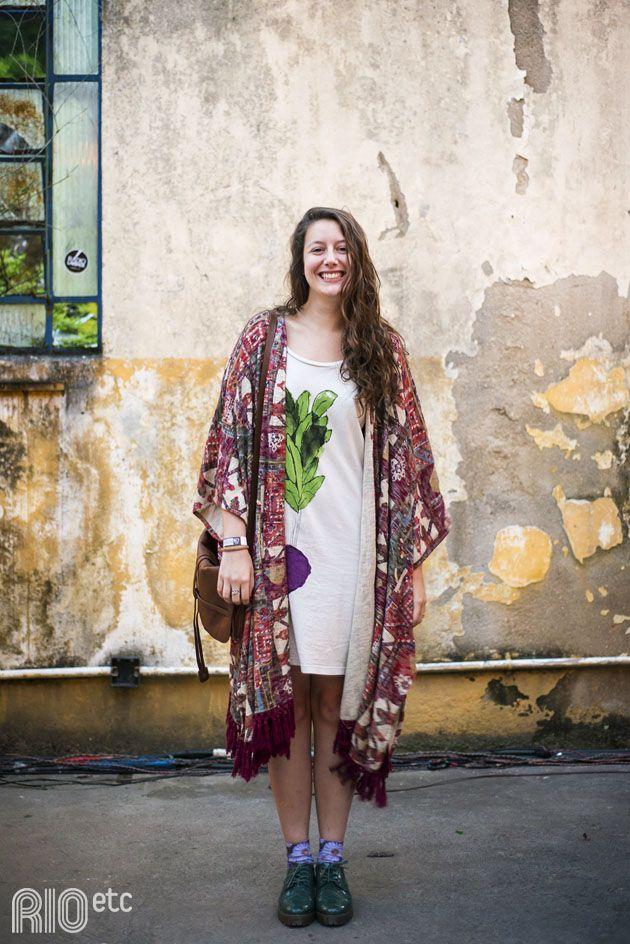 RIOetc | Dissertação final | Maria Theresa conferiu o festival Mimpi, no Alto da Boa Vista, usando kimono, vestido, bota e meia!