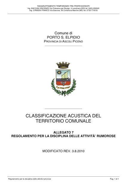 Movimento 5 Stelle Porto Sant'Elpidio: REGOLAMENTO PER LA DISCIPLINA DELLE ATTIVITÀ' RUMO...