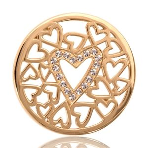 This surrounded-by-hearts coin is a terrific example of Nikki Lissoni's artistic creations.  Let the love begin and wear this surrounded-by-hearts coin. Available from Ogham Jewellery http://www.oghamjewellery.com/Nikki-Lissoni-Hearts-Coin-C1020SM-p/surrounded-by-hearts-coin.htm