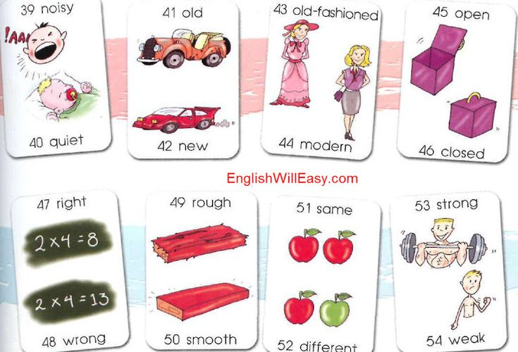Vocabulary list by Opposites (or Antonyms)