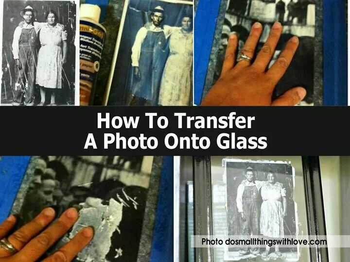 How to transfer a photo on to glass