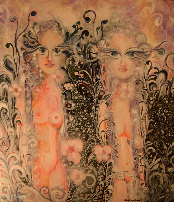 Entitati din frig – pictura pe panza #art, #Painiting, #Creative