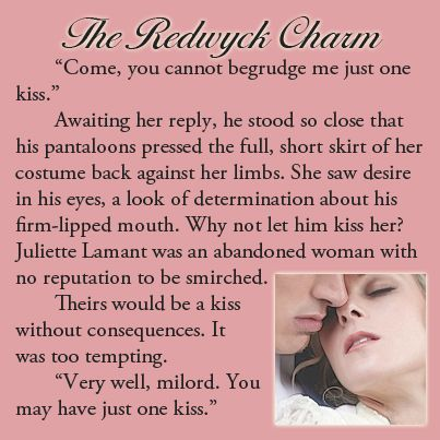 Excerpt from THE REDWYCK CHARM (#2 of the Three Disgraces)