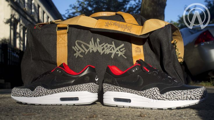 air max 1 daweezy cement 4 Nike Air Max 1 Black Cement Laser Customs by Absolelute
