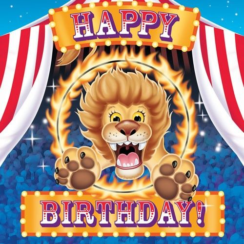 Buy Kids Birthday Party Supplies Big Top Birthday 16 Lunch Napkins , for $6.95 only at Party Craze.