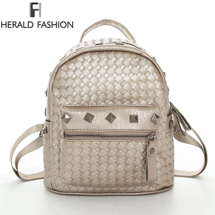 $17.55 (Buy here: https://alitems.com/g/1e8d114494ebda23ff8b16525dc3e8/?i=5&ulp=https%3A%2F%2Fwww.aliexpress.com%2Fitem%2FKnit-Leather-Girl-Backpack-School-Bag-For-Teenage-Small-Rivet-Top-handle-Women-Bag-Mochila-Escolar%2F32634205966.html ) Knit Leather Girl Backpack School Bag For Teenage Small Rivet Top-handle Women Bag Mochila Escolar Feminina Herald Fashion New for just $17.55