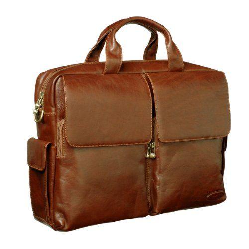 Luxury Tan Designer Leather Briefcase (Lagaro)