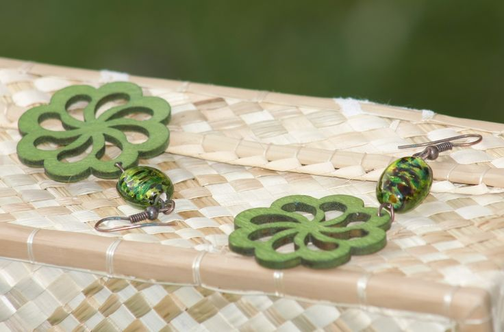 Wooden collection part 3: green and bronze version with murrine