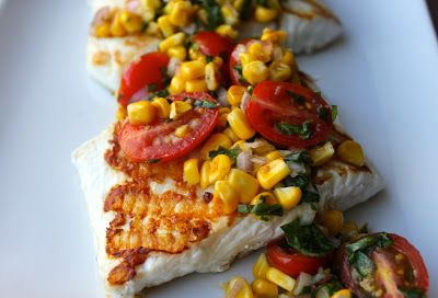 Grilled Halibut with Cherry Tomato and Corn Salsa | Recipe