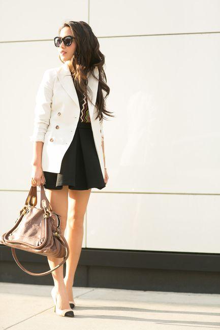 Favorites :: Zigzag stripes & Ivory blazer