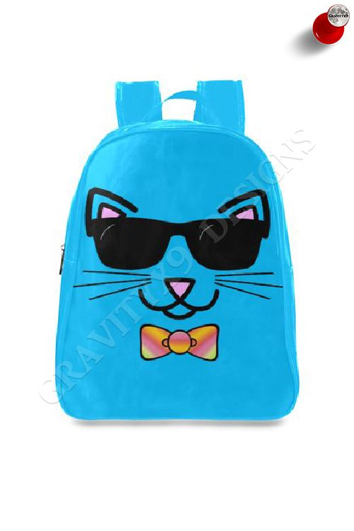 9fba1fa89b Cool Cat Wearing Bow Tie and Sunglasses School Backpack by  Gravityx9 at   Artsadd