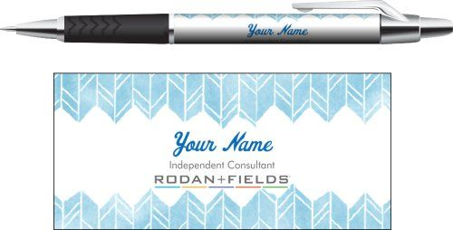 Business Pens - R+F consultants - Watercolor blue