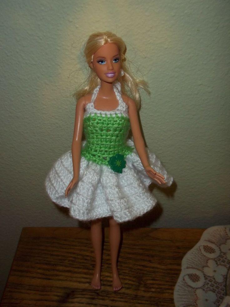 Free Barbie St Paddy S Dress Pattern Crochet Knit Doll