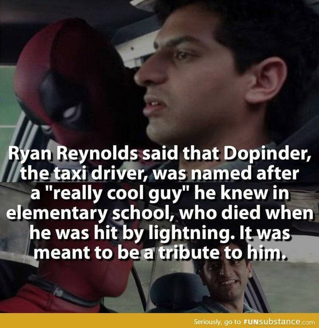 A fun fact about the taxi driver in Deadpool – FunSubstance.com