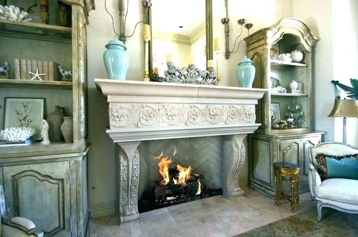 Fireplace shelves ideas with shelf stone mantels # ...